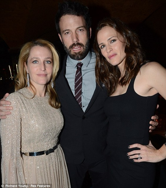 With Ben Affleck and Jennifer Garner