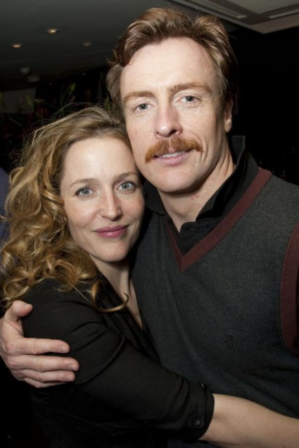 Gillian Anderson (Nora) and Toby Stephens (Thomas) attend the after show party on press night for A Doll's House at Cafe Des Amis, London, England on 19th May 2009.