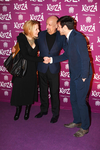With Ben Kingsley and his son Ferdinand