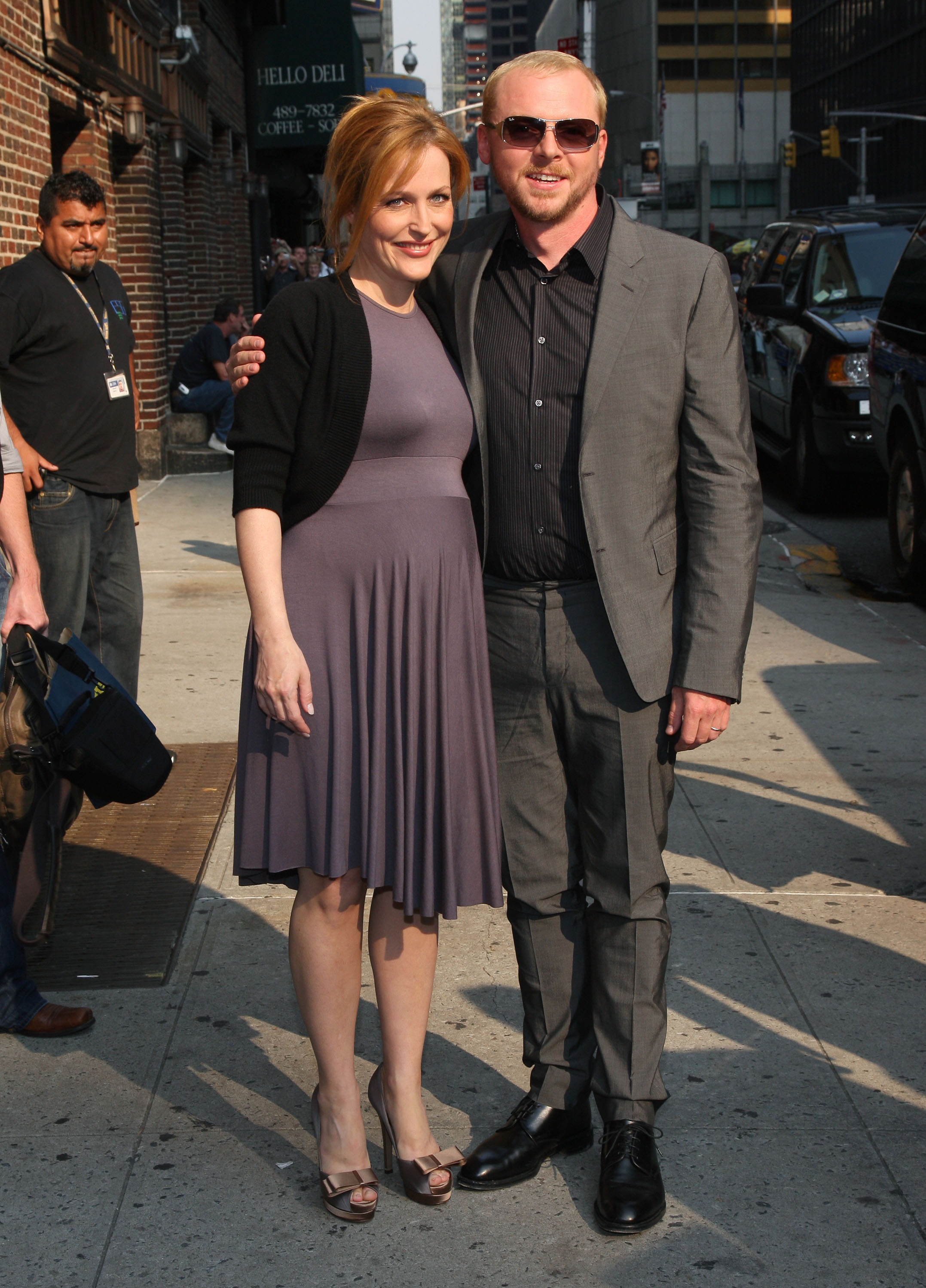Gillian with Simon Pegg