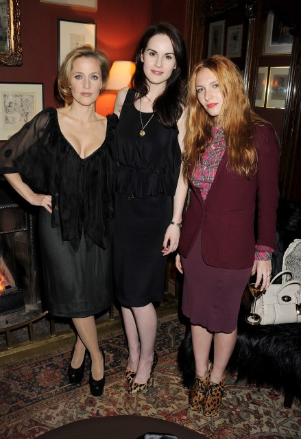 With Michelle Dockery and Josephine De La Baume